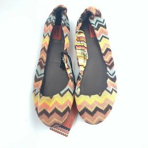 Missoni Womens Ballet Flats Shoes Multi 5